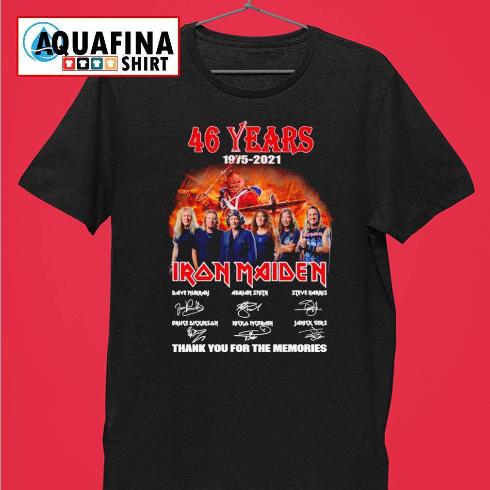 46 Years 1975-2021 Iron Maiden signatures shirt