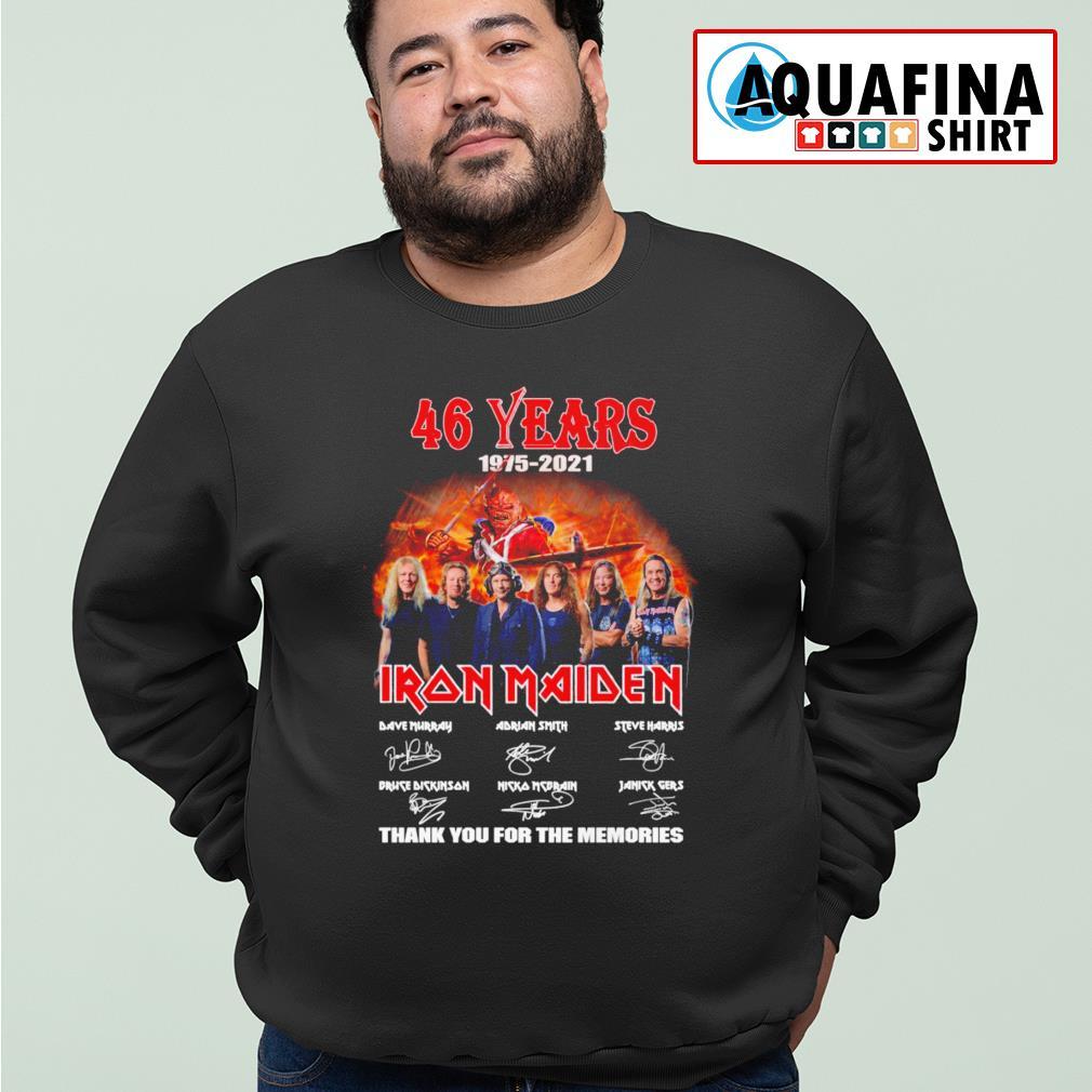46 Years 1975-2021 Iron Maiden signatures sweater