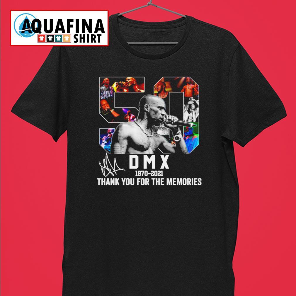 DMX 1970-2021 Thank you for the memories signatures shirt
