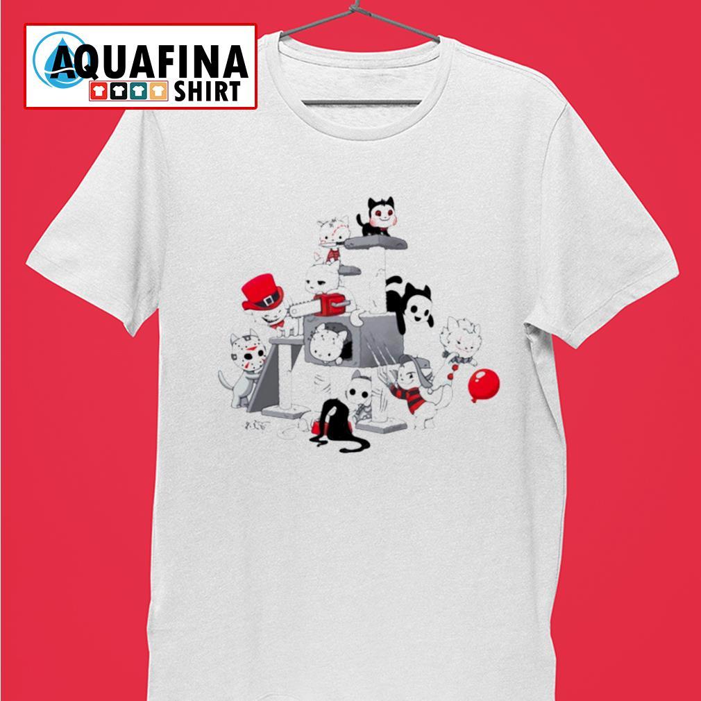 I Love Cats Horror Kitties Halloween Shirt