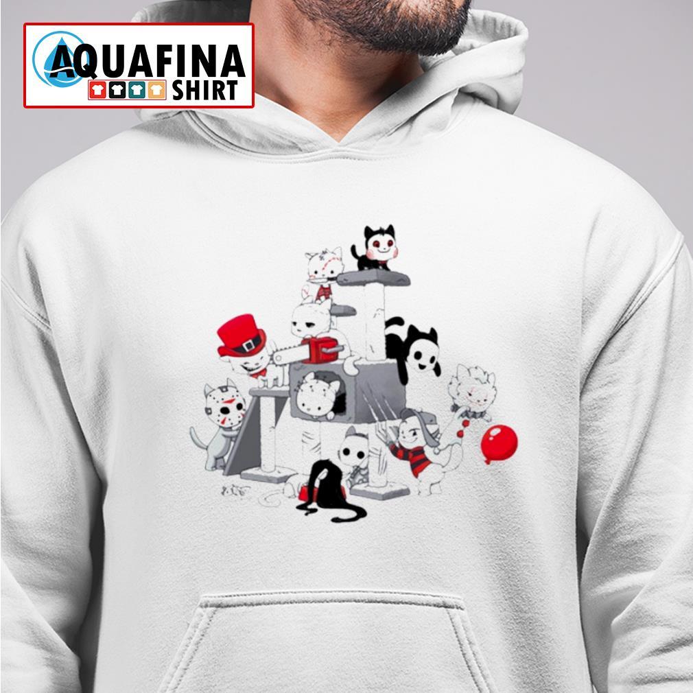 I Love Cats Horror Kitties Halloween Shirt hoodie