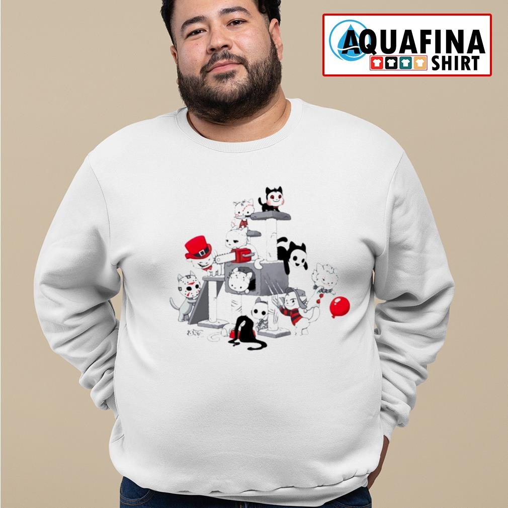 I Love Cats Horror Kitties Halloween Shirt sweater